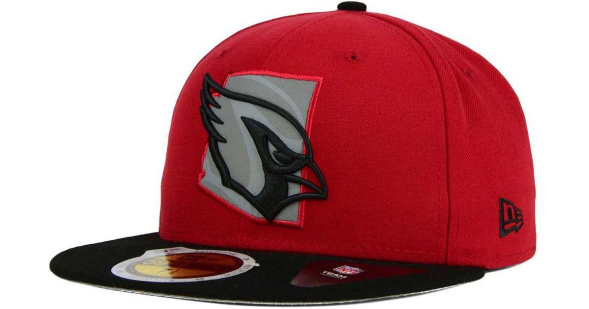 best website fb15d 17ba7 KTZ Arizona Cardinals State Flective Redux 59fifty Cap in Red for Men - Lyst