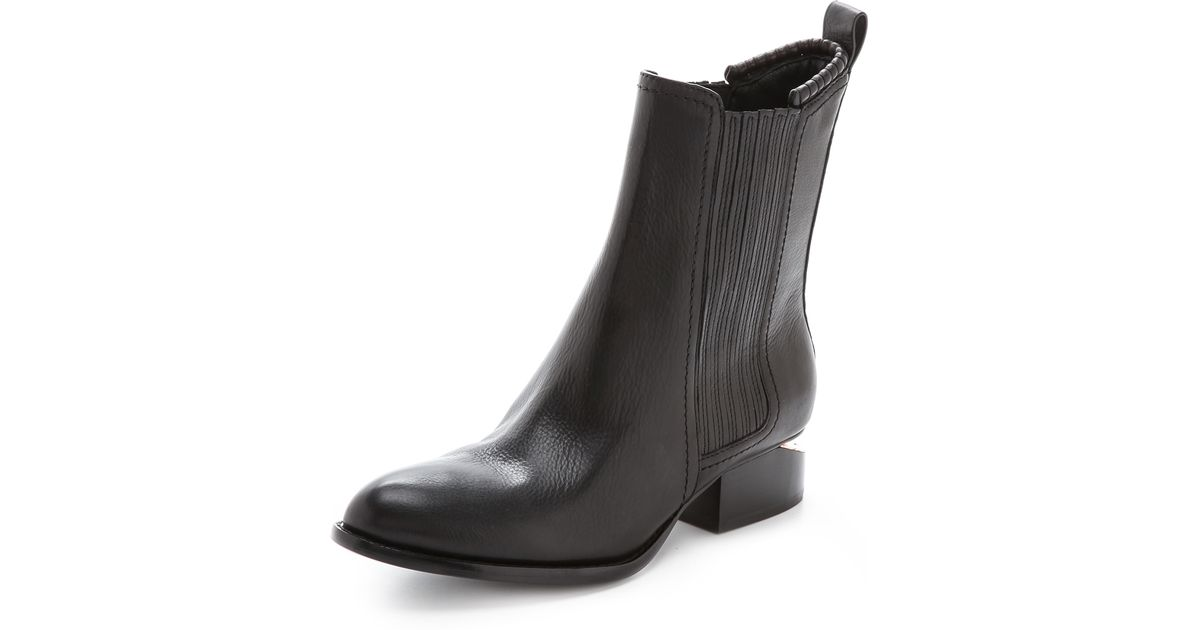 Alexander wang Anouck Chelsea Boots With Rose Gold Hardware ...
