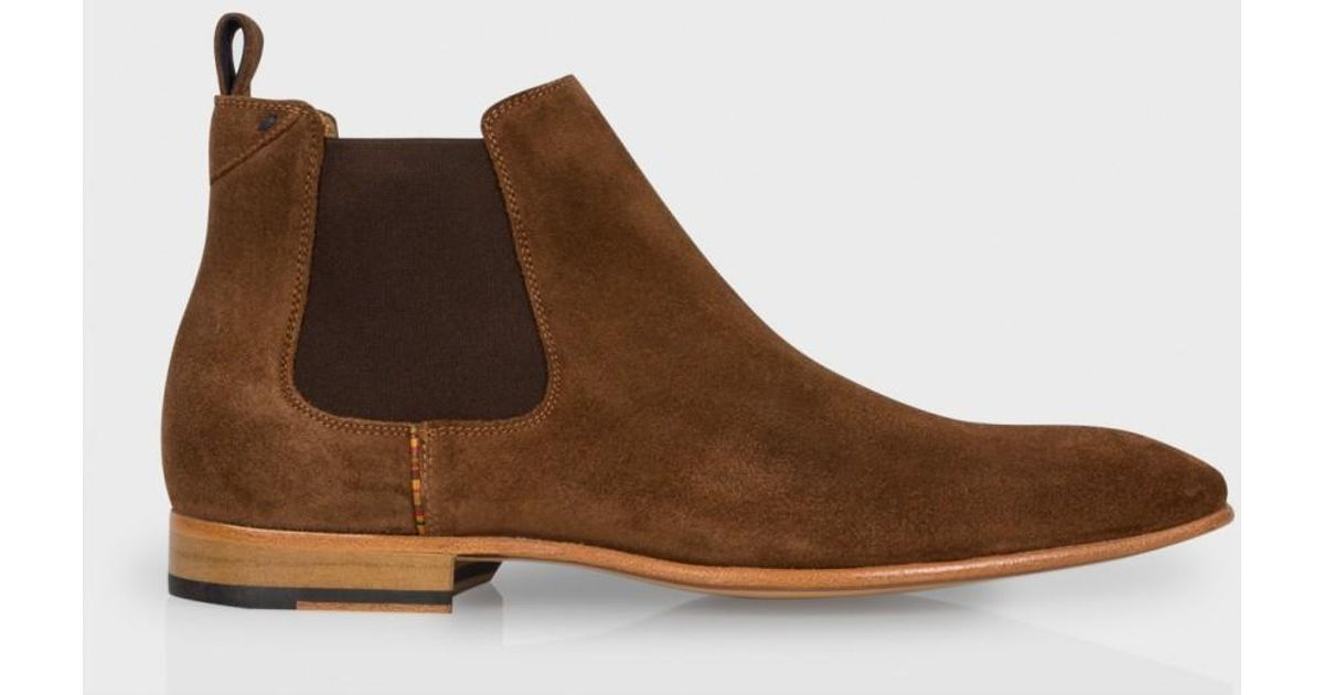 0e230af31f93 Paul Smith Men s Brown Suede  falconer  Chelsea Boots in Brown for Men -  Lyst