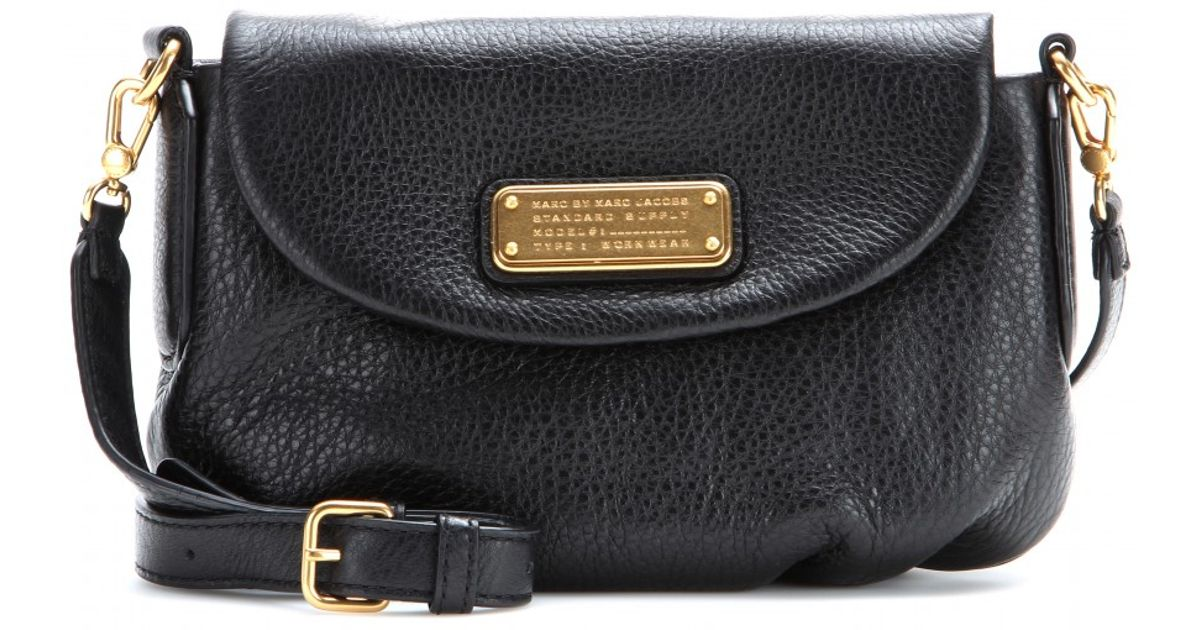 39c2c2a12b Marc By Marc Jacobs Classic Q Flap Percy Leather Shoulder Bag in Black -  Lyst