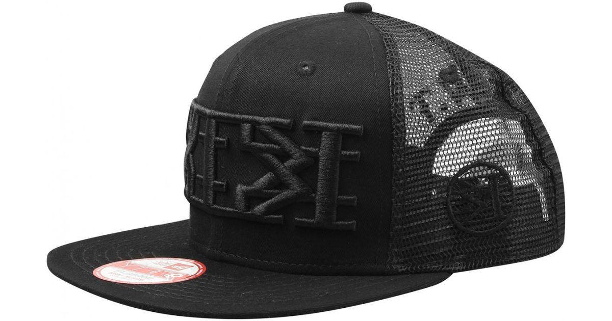 KTZ New Era Black Mesh Cap in Black for Men - Lyst 1c94f6eab60b