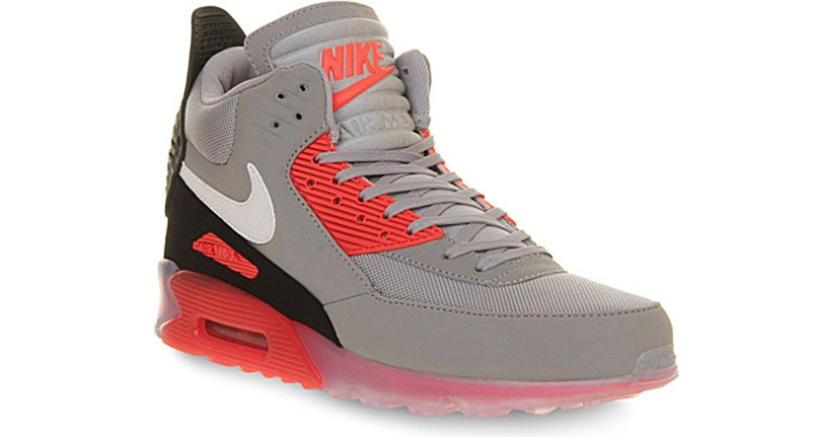 reputable site 8f7db 26fba Nike Air Max 90 High-Top Trainers - For Men in Gray for Men - Lyst