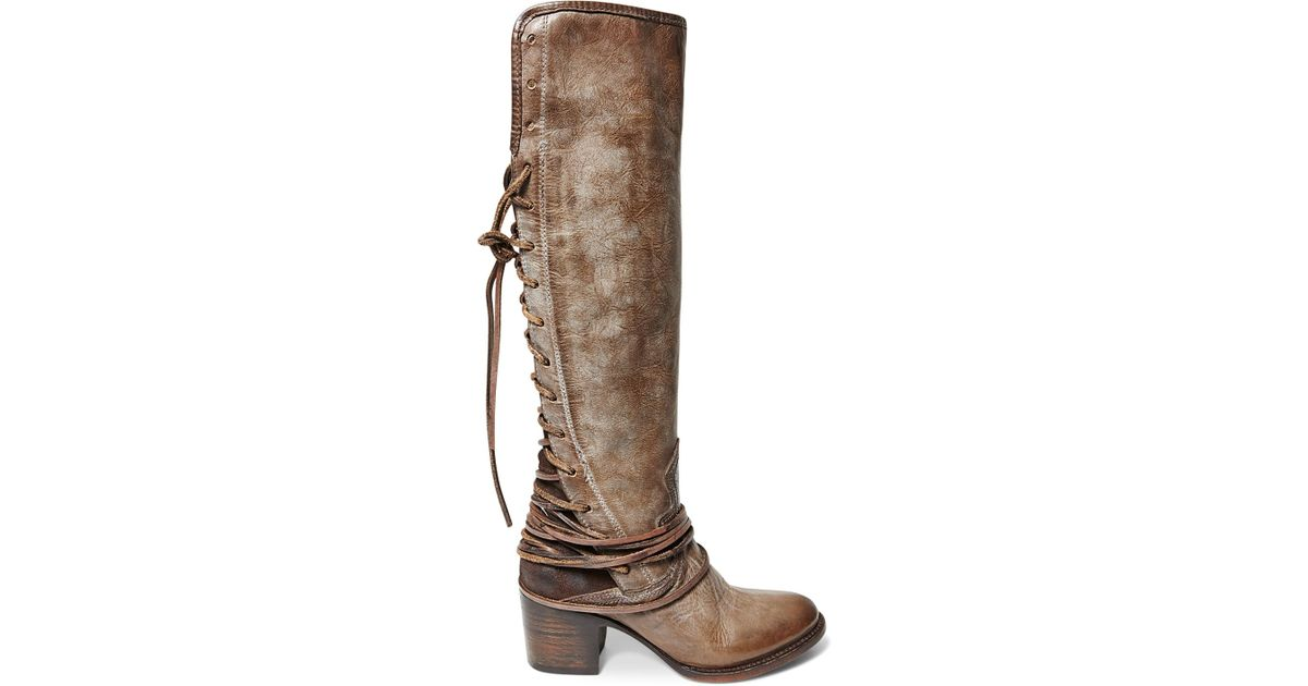 45bfe0fae93 Lyst - Freebird by Steven Tall Boots - Coal Lace Up in Gray