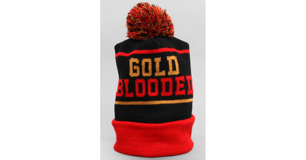 Lyst - Adapt The Gold Blooded Beanie in Red cc858fa259f