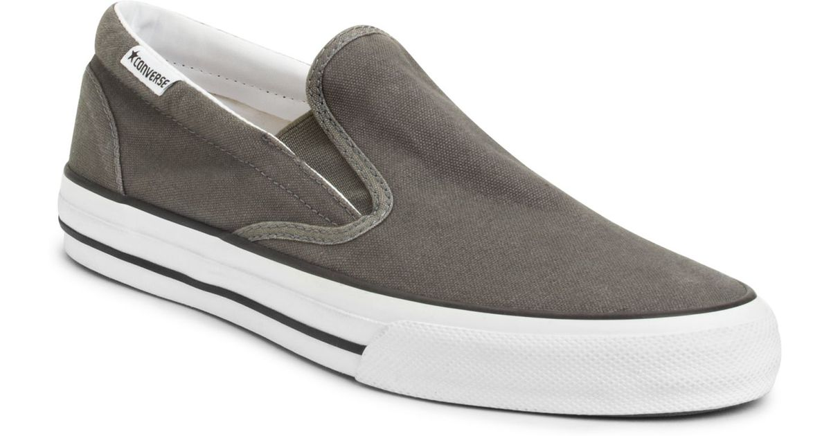 526e52a8d67 Lyst - Converse Skid Grip Slip On Sneakers From Finish Line in Gray for Men