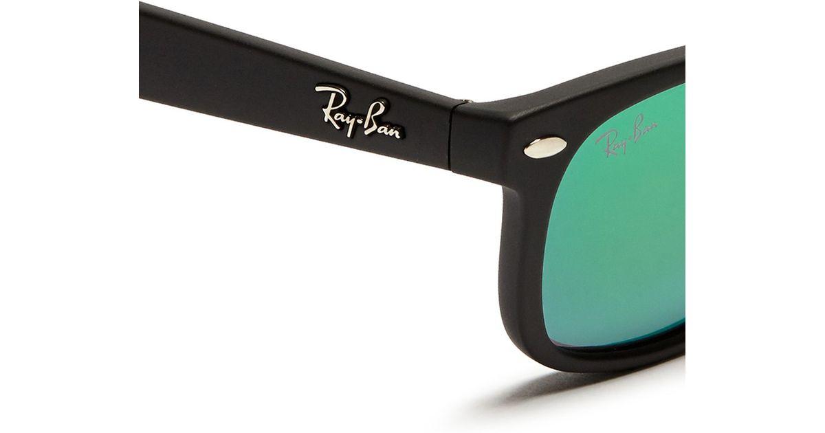 33bc60ff9be Lyst - Ray-Ban New Wayfarer Junior  Matte Plastic Mirror Sunglasses in  Green for Men