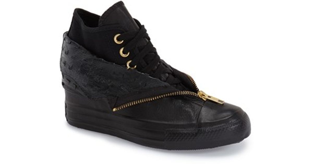 f401d4e670fe Lyst - Converse Chuck Taylor All Star  lux Shroud  High Top Wedge Sneaker  in Black