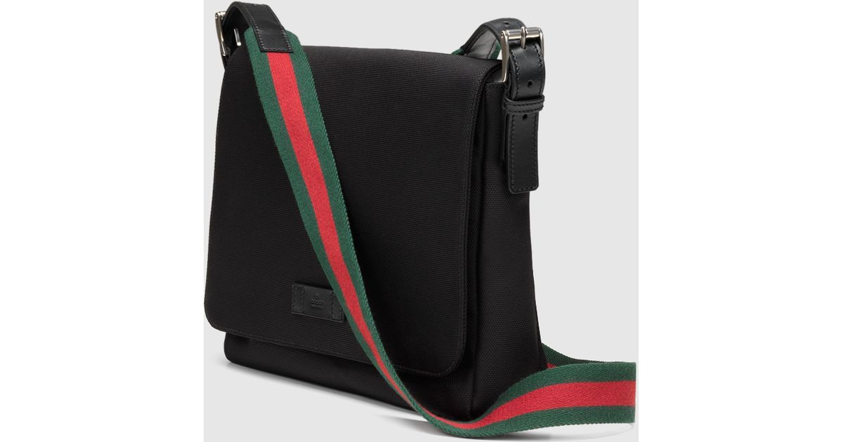 9ff5f83f2 Gucci Black Techno Canvas Messenger Bag in Black for Men - Lyst