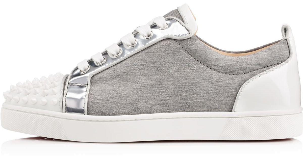 2b93699128ce Lyst - Christian Louboutin Louis Junior Spikes Mens Flat in Gray for Men