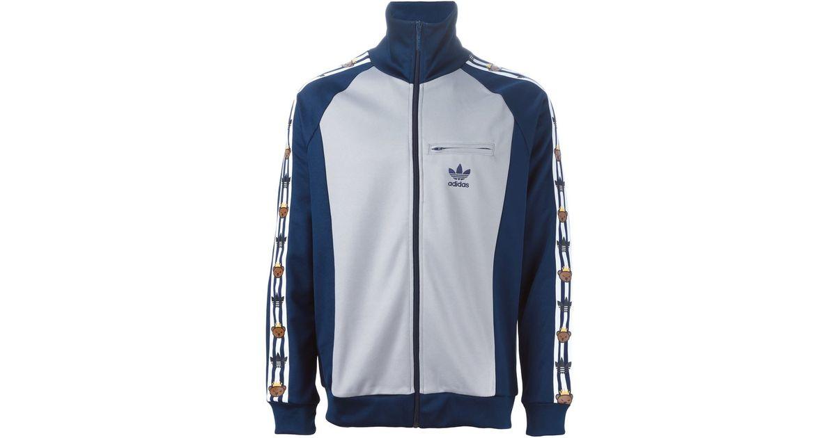 Lyst - Adidas Originals Adidas Original X Nigo Bear Printed Sport Jacket in Blue for Men