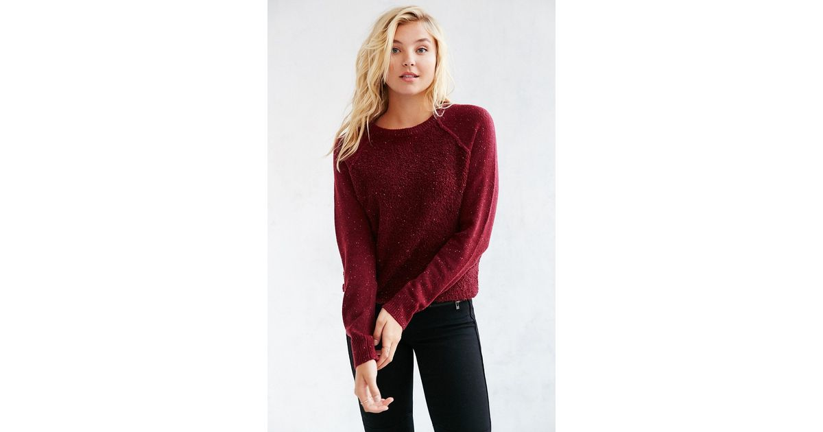 Mouchette Jessica Mixed Stitch Pullover Sweater in Purple | Lyst