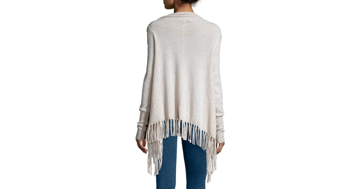 Lyst - Calypso St. Barth Godarni Long-sleeve Cashmere Sweater in White 86bbf383b094e
