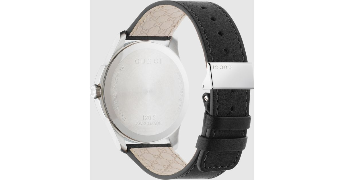 f013c285fe8 Lyst - Gucci G-timeless Stainless Steel And Leather Watch in Black for Men