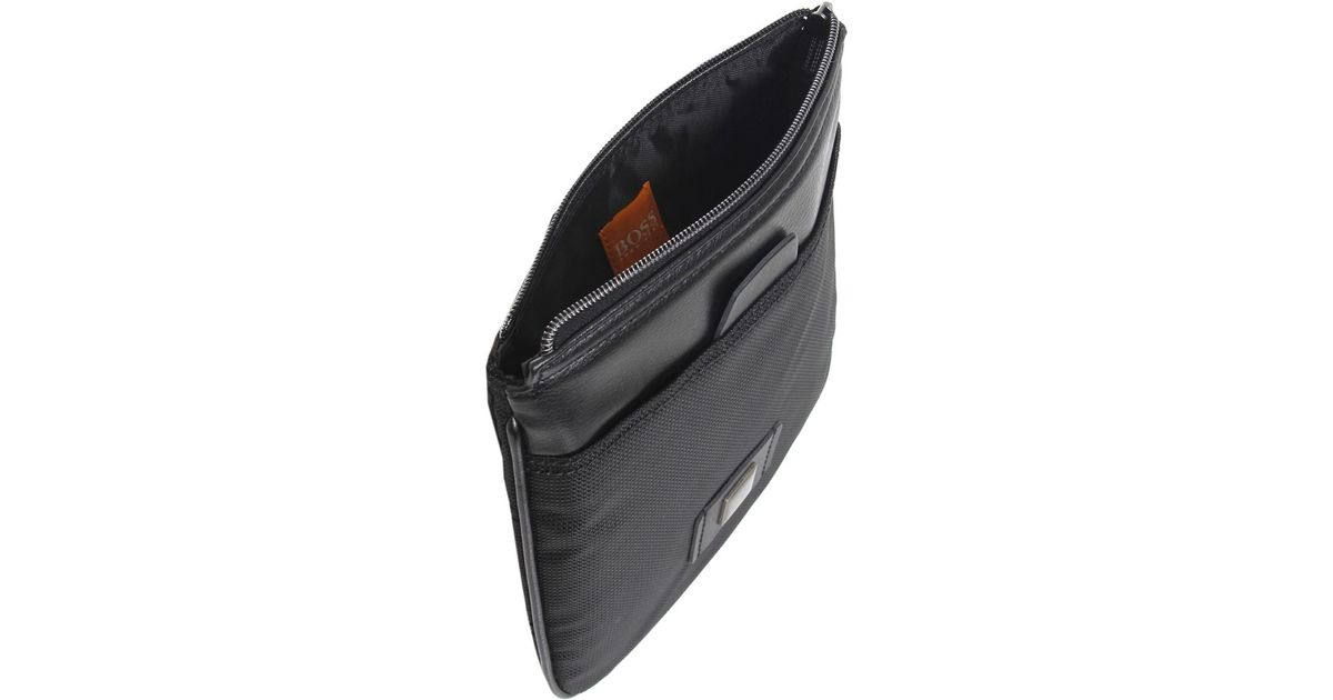 11457965c7 BOSS Orange Reet Shoulder Bag in Black for Men - Lyst