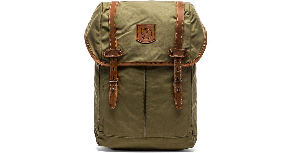 fjallraven kanken rucksack no.21 medium green
