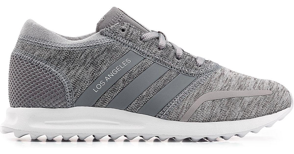 adidas originals los angeles sneakers grey in gray lyst. Black Bedroom Furniture Sets. Home Design Ideas