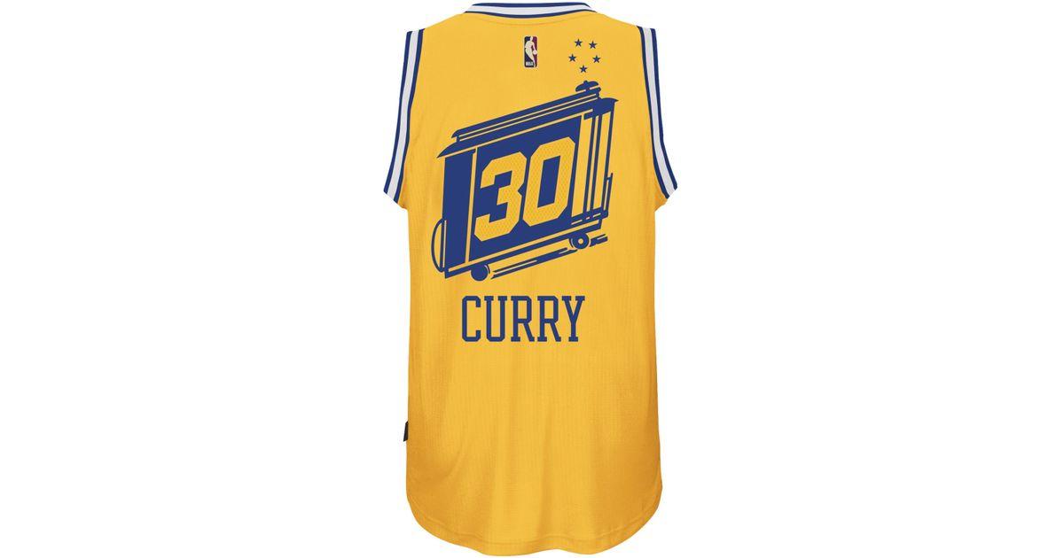 Lyst - adidas Originals Men s Stephen Curry Golden State Warriors Hardwood  Classic Swingman Jersey in Yellow for Men d5640866a