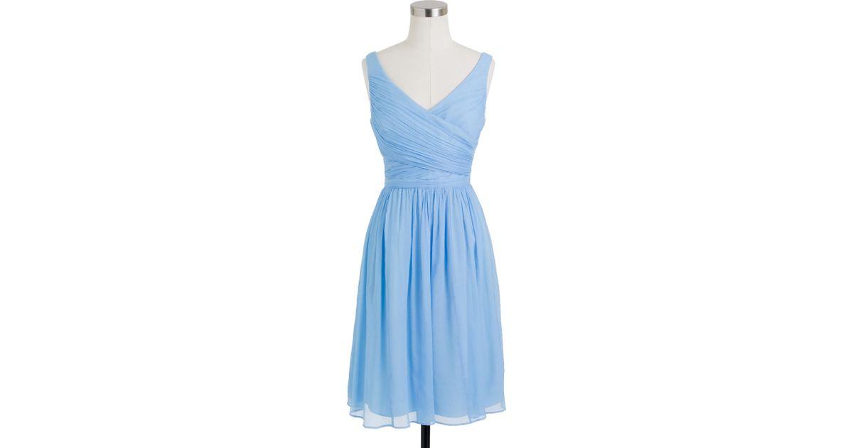 Lyst - J.Crew Heidi Dress In Silk Chiffon in Blue