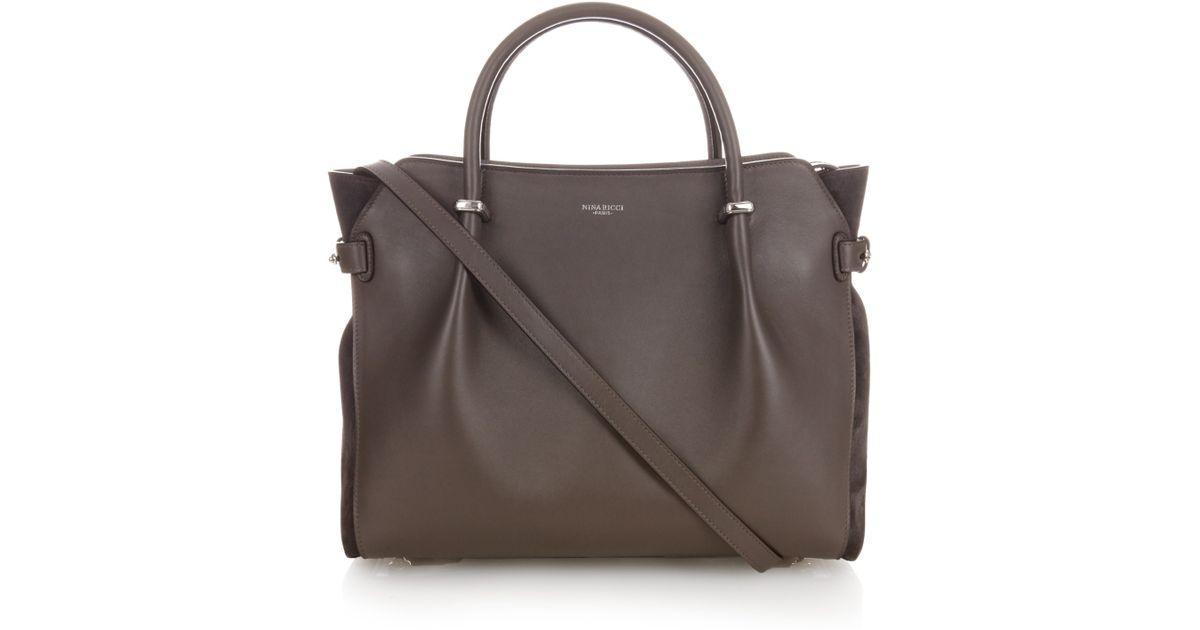 ed53d4fee3 Nina Ricci Marché Medium Leather Tote in Gray - Lyst