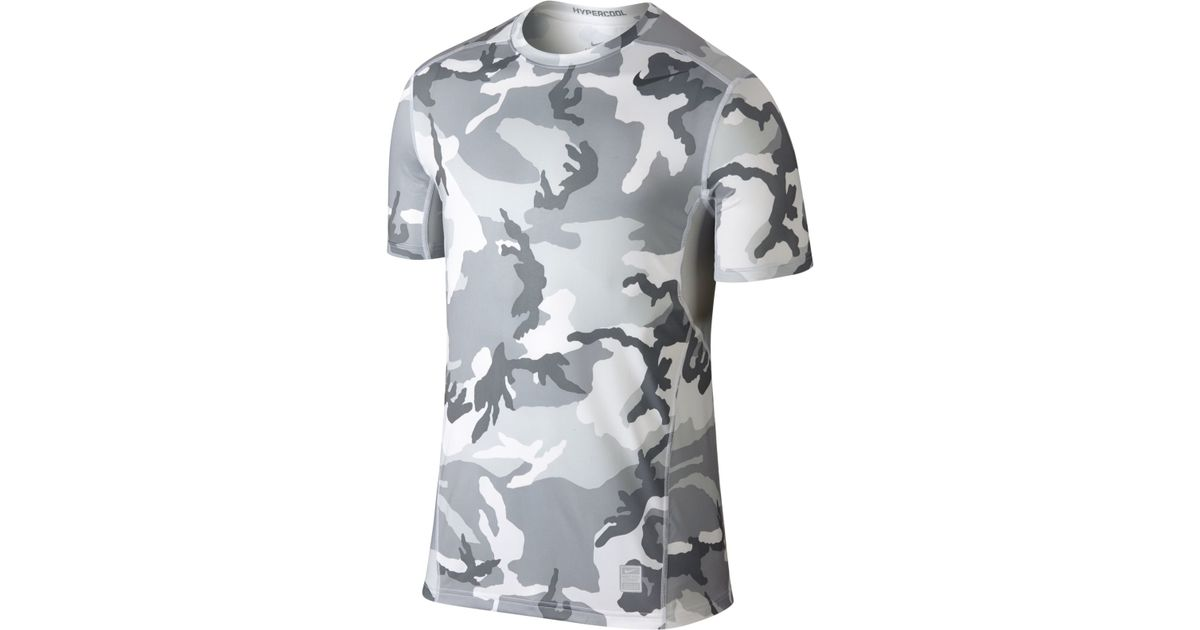 a072cd9e7 Nike Hypercool Dri-fit Camo T-shirt in Gray for Men - Lyst