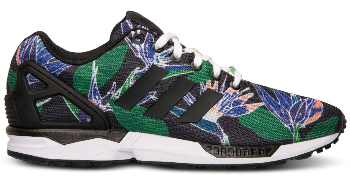 eafff4f08e72 ... germany lyst adidas mens zx flux floral print casual sneakers from  finish line for men 65be9