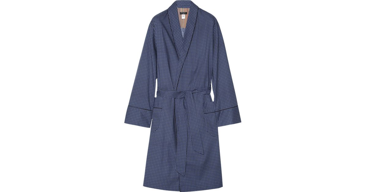 Lyst - Paul Smith Printed Cotton Dressing Gown in Blue for Men