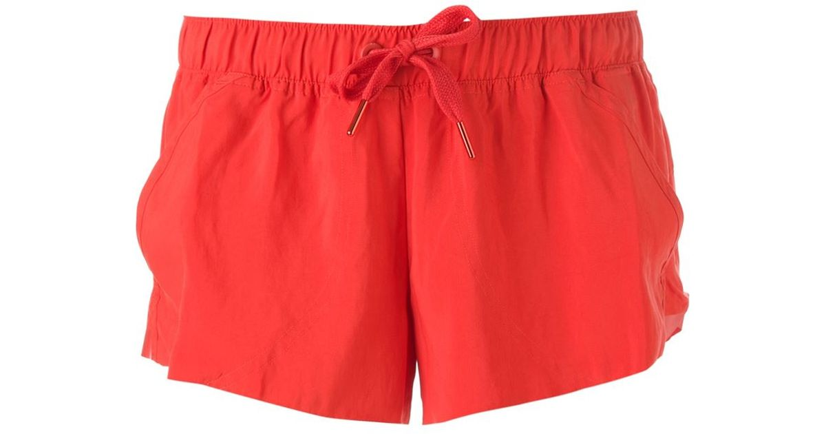 Adidas by stella mccartney Running Shorts in Red | Lyst