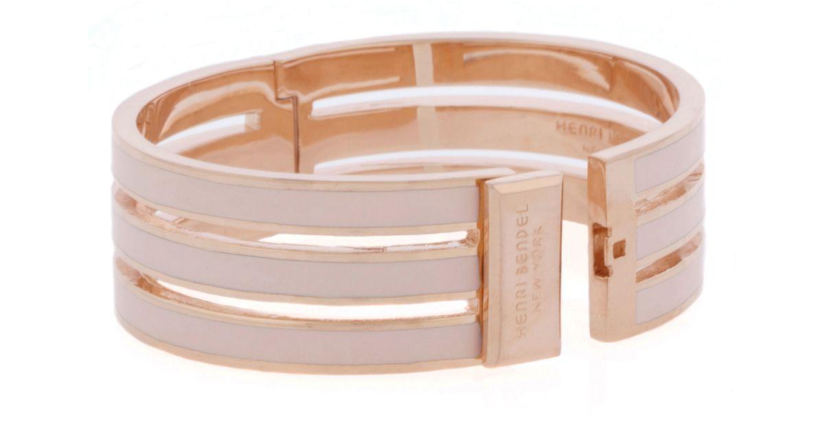 Lyst Henri Bendel Spence Cutout Bangle Bracelet In Pink