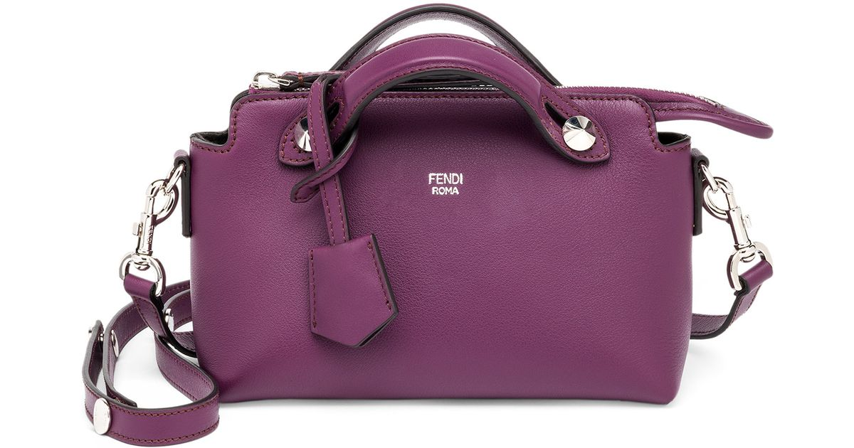 a261816541 Fendi By The Way Mini Leather Satchel in Purple - Lyst