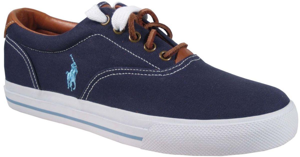 453407756768 Lyst - Polo Ralph Lauren Vaughn Canvas Sneakers in Blue for Men