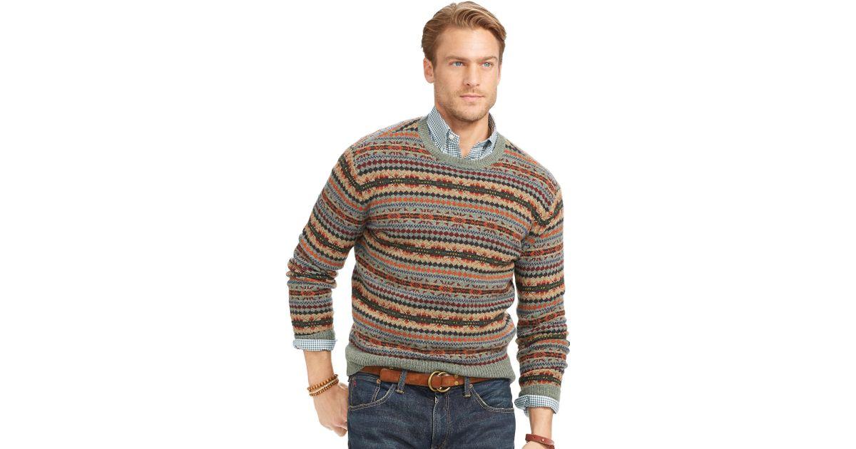 Polo ralph lauren Fair Isle Merino Wool Sweater for Men   Lyst