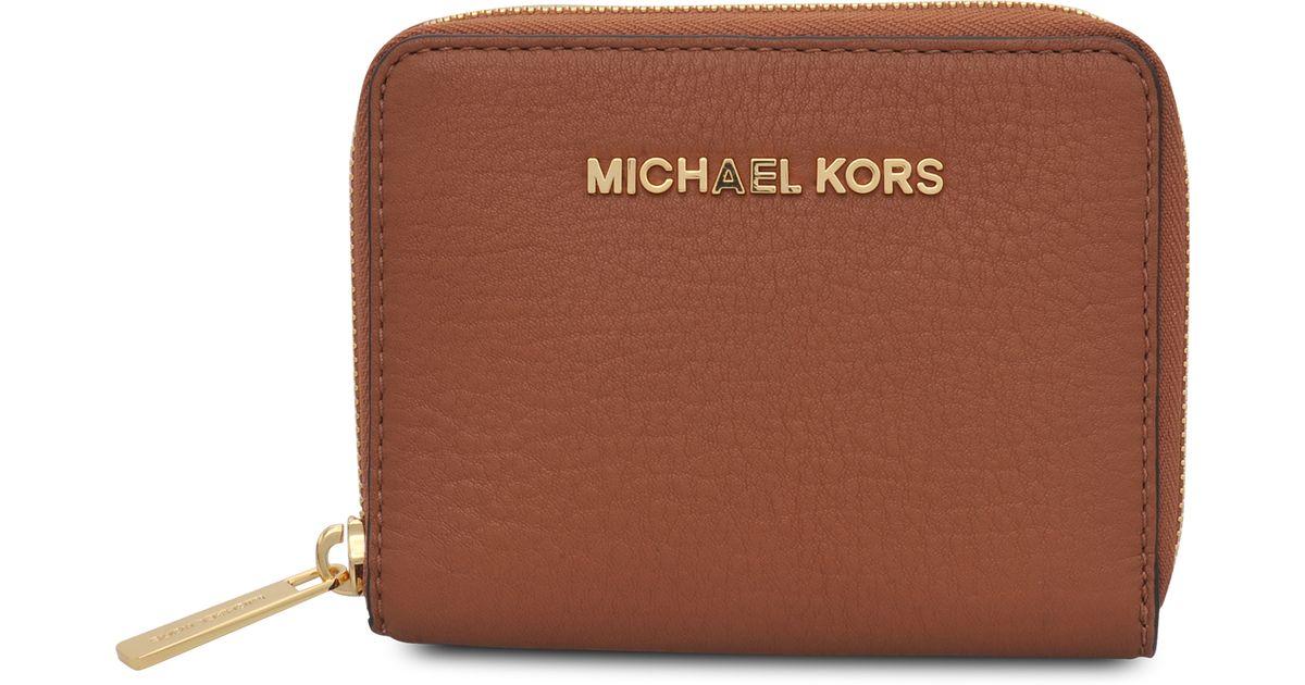 2292f01806c4 ... greece michael kors bedford zip coin purse in brown lyst 877da cc5ad