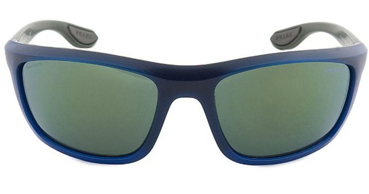 53b6e4c9dd3 ... discount code for lyst prada sport spso4p oai 3c0 designer polarized  sunglasses blue and grey in