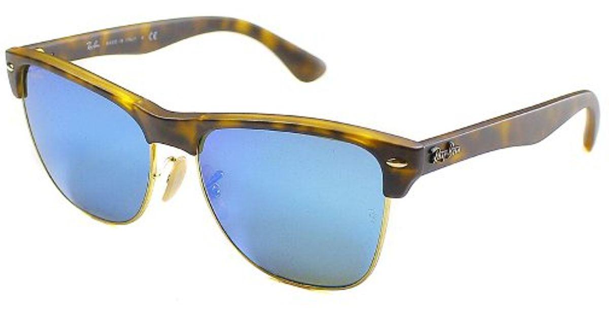 6f94b35c8d Lyst - Ray-Ban Rb 4175 609217 Matte Havana Clubmaster Plastic Sunglasses