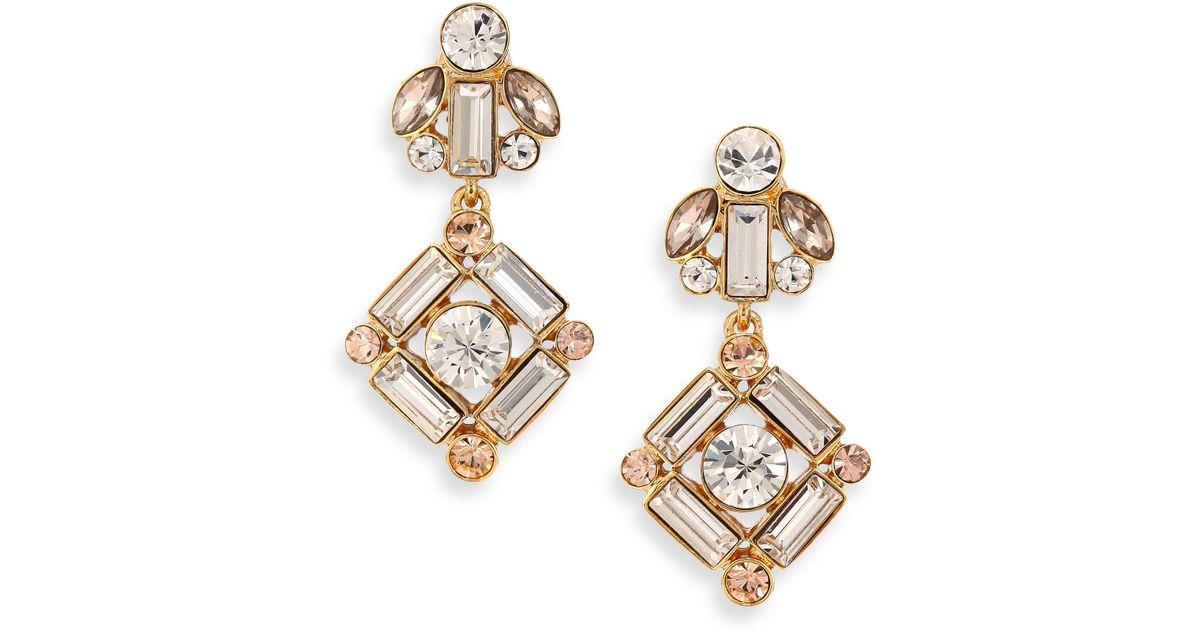 Lyst Kate Spade New York Tails Conversation Drop Earrings In Metallic