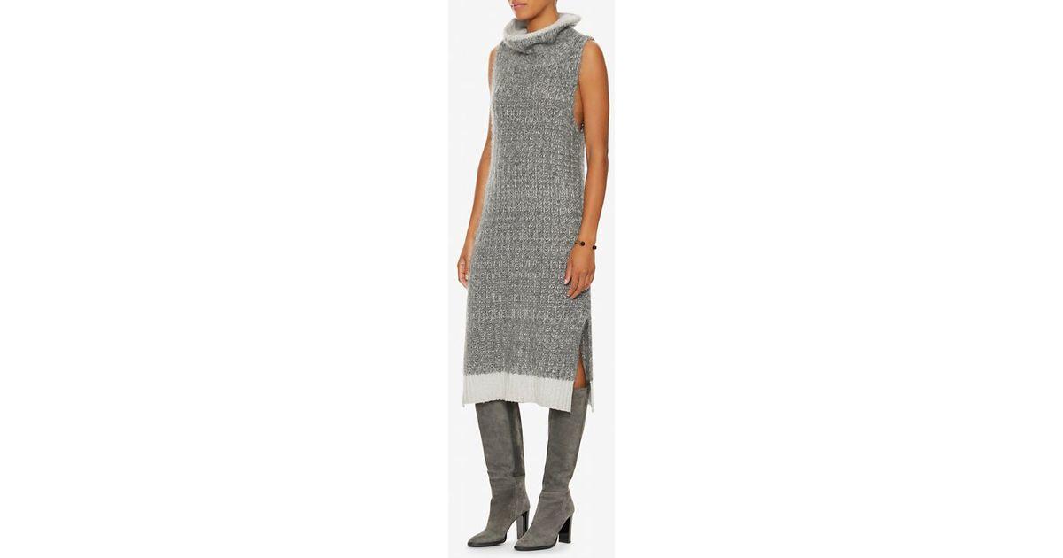 ea132d867e1 Rag   Bone Makenna Turtleneck Sweater Dress in Gray - Lyst