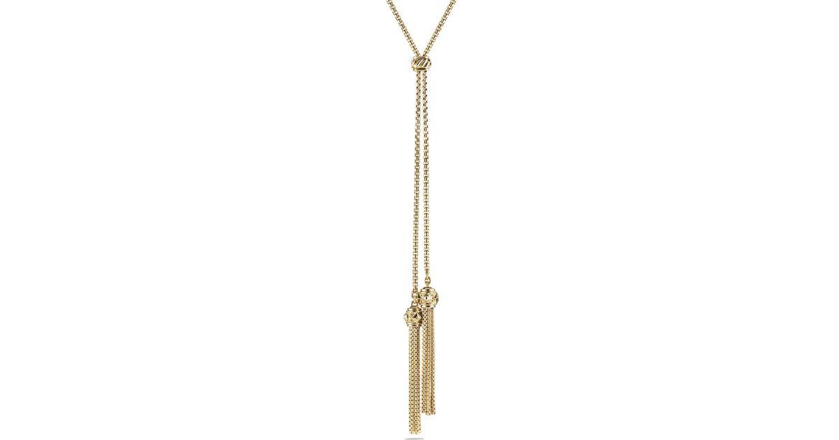 david yurman renaissance tassel necklace with 18k gold in