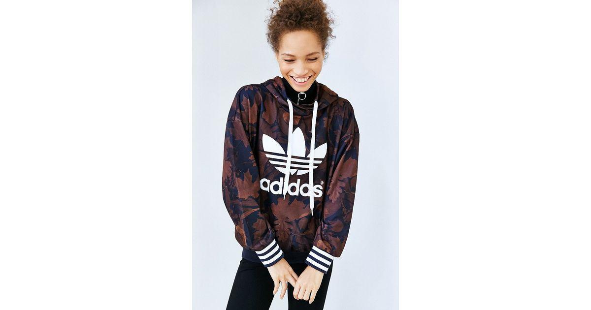 adidas originals leaf camo hoodie sweatshirt lyst. Black Bedroom Furniture Sets. Home Design Ideas