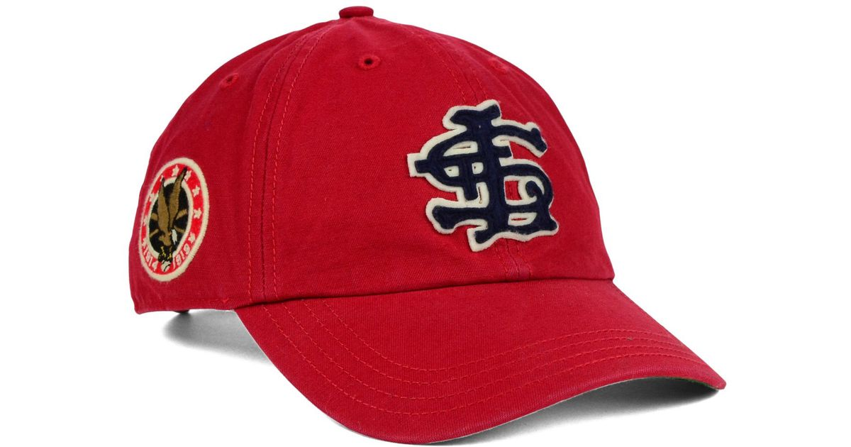 a5dac26b951 Lyst - 47 Brand St. Louis Cardinals Baseball United Clean Up Cap in Red for  Men