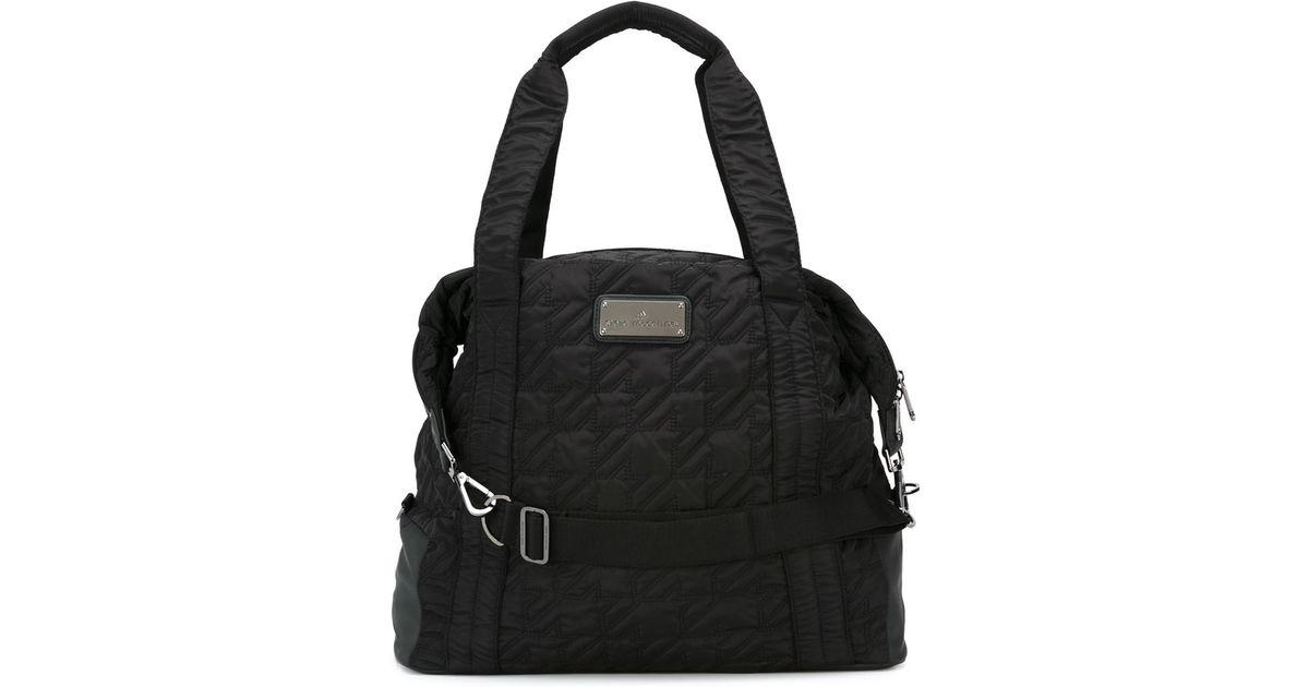 3fd2ebd240e704 adidas By Stella McCartney Quilted Sports Bag in Black - Lyst