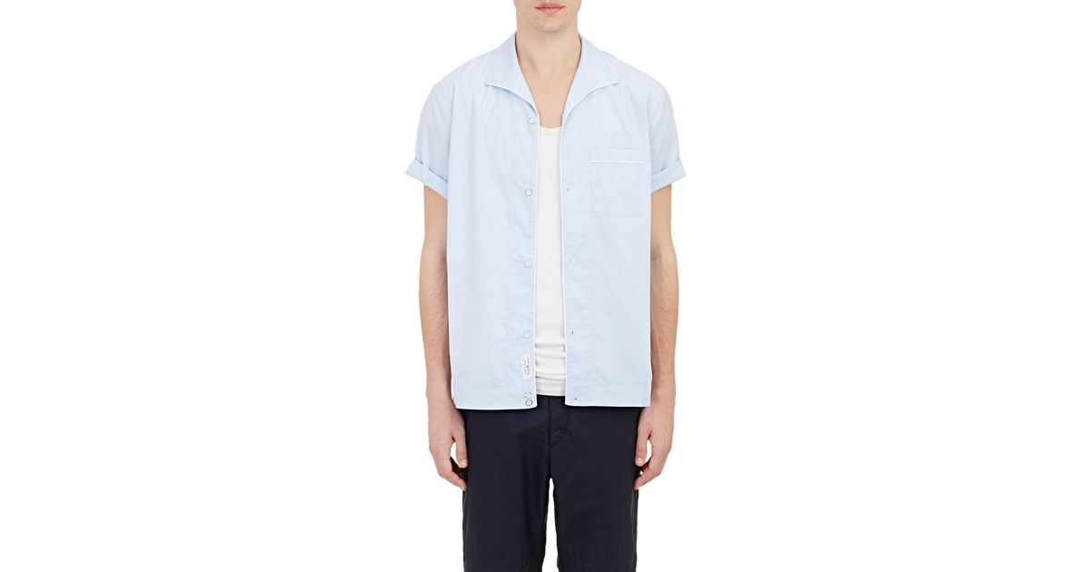 Lyst - Rag   Bone Piped Greenleaf Pajama Shirt in Blue 56ac0d71a