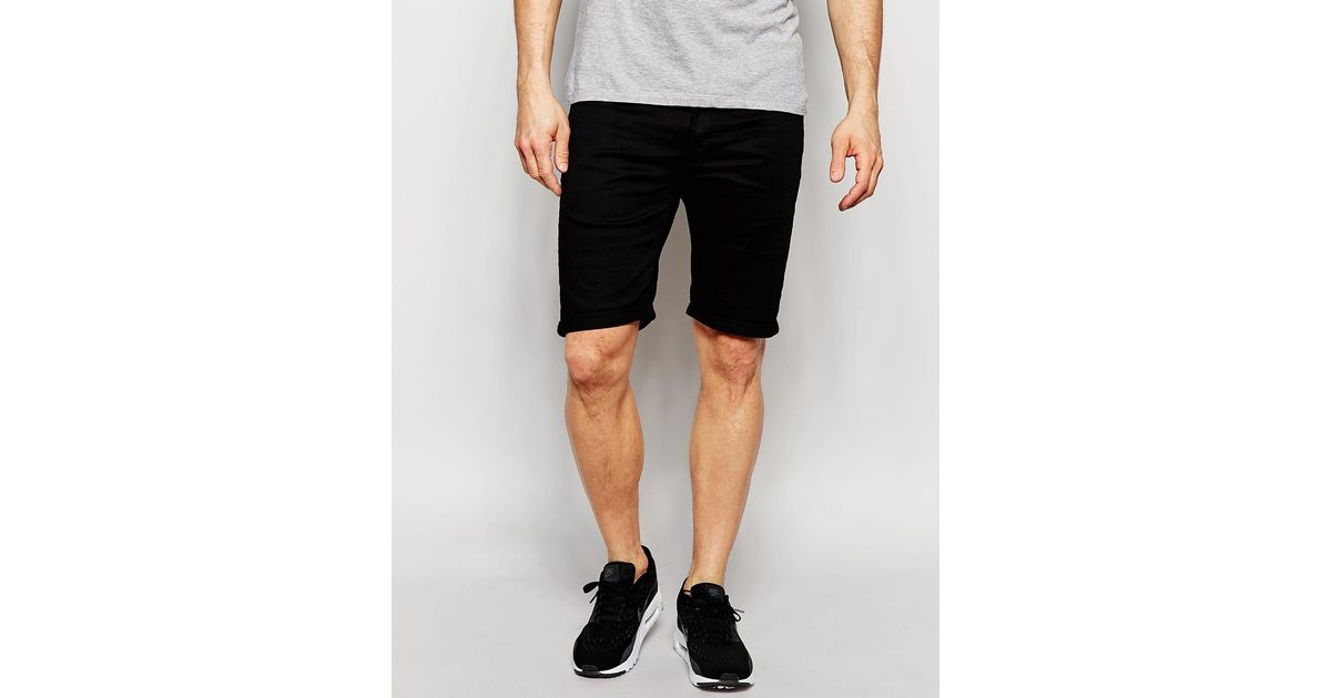 g star raw denim shorts 3301 deconstructed slim fit. Black Bedroom Furniture Sets. Home Design Ideas