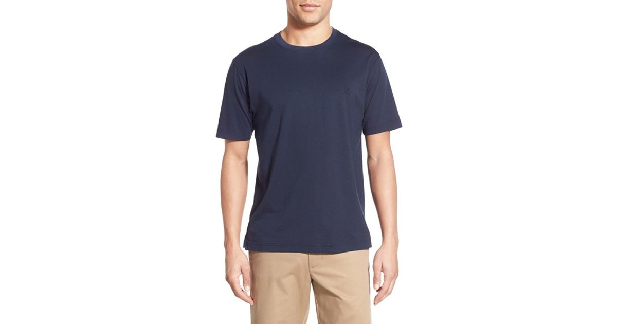 5a9a57203ad Lyst - Brooks Brothers Supima Cotton Crewneck T-shirt in Blue for Men