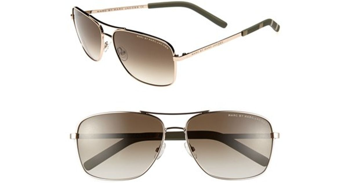 8191ad00df Marc By Marc Jacobs 59mm Aviator Sunglasses - Light Gold in Metallic for Men  - Lyst