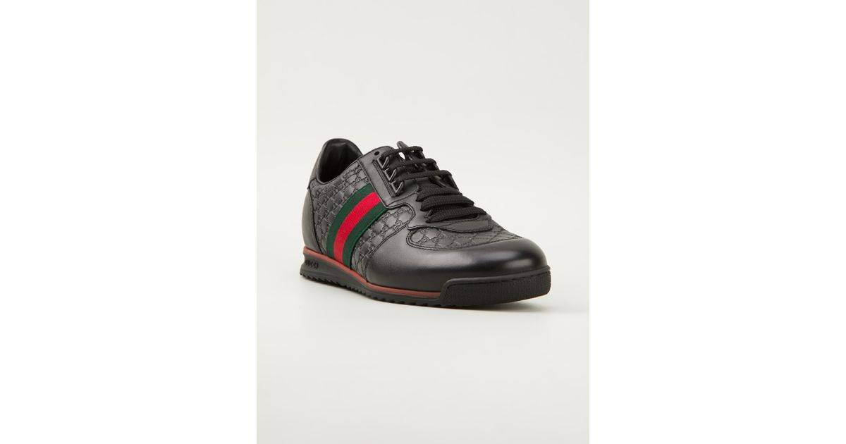 290000d8b69ac Lyst - Gucci Monogram Embossed Sneakers in Black for Men