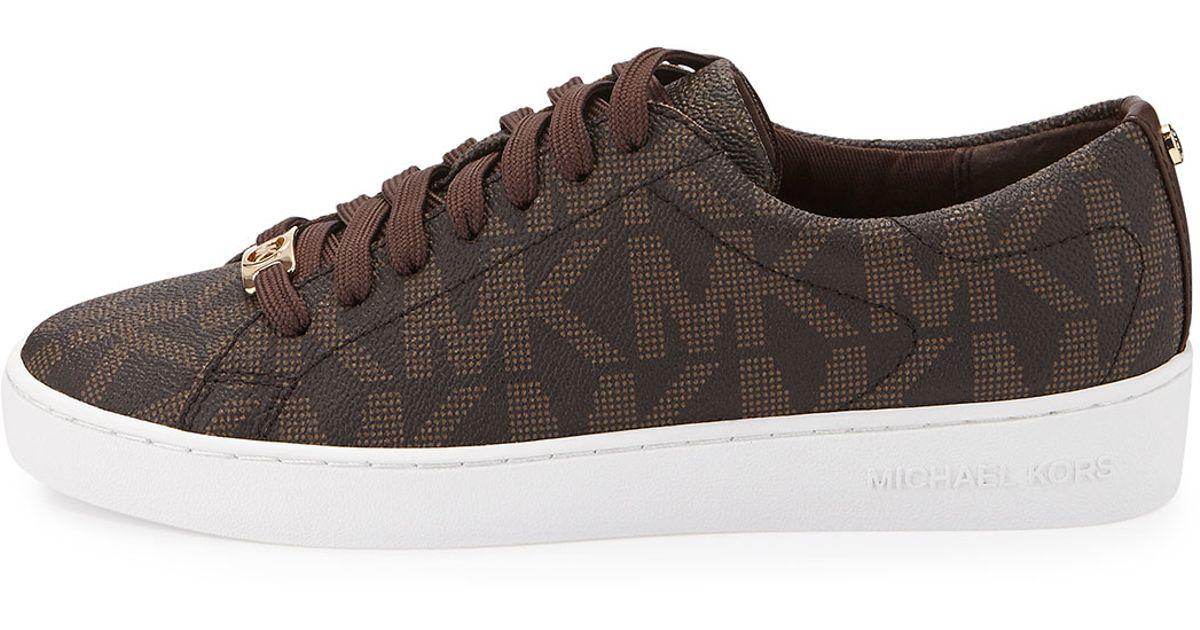 5bd565e0dcf MICHAEL Michael Kors Keaton Logo Pvc Sneaker in Brown - Lyst