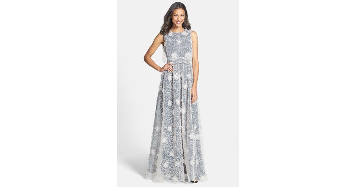 66bbe9ef596 Lyst - ERIN Erin Fetherston  jan  3d Floral Organza Gown