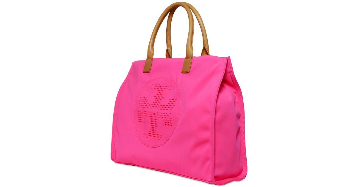cff336a8cfb Tory Burch Ella Neoprene Tote Bag in Pink - Lyst
