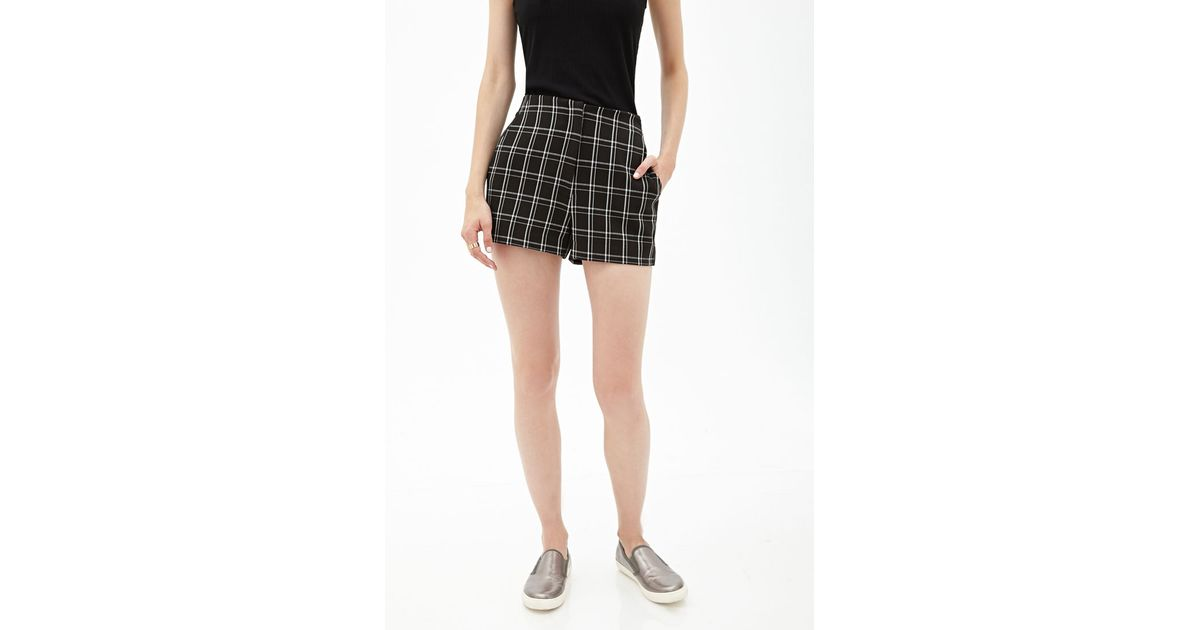 Forever 21 High-waisted Plaid Shorts You've Been Added To The ...
