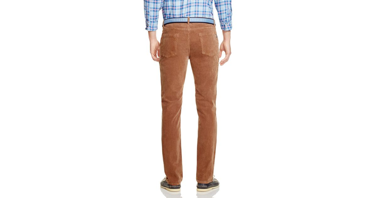 Vineyard vines Relaxed Fit Corduroy Pants in Brown for Men | Lyst